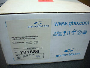 Greiner Bio one 781886 384 Well Cycloclear Coc Microplate Gbo Lab 1 Case New