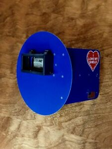 Wendy s Pancake Welding Hood Helmet W strap Right Handed Blue W flip Up Lens