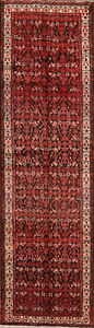 Vintage All Over Bakhtiari Traditional Persian Hand Knotted 4x14 Wool Runner Rug
