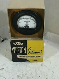 1 New Weston 301 Ac Milliamp Meter 50 0 50 Mv Nib make Offer