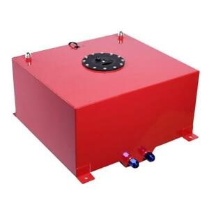 15 Gallon Alloy Aluminum Fuel Cell Tank W Level Sender Anti Slosh Foam Red