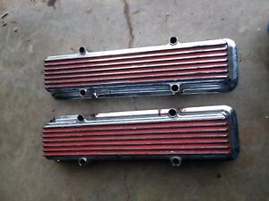 Vintage Sbc Keystone Finned Chrome Valve Covers Small Block Chevy 327 350 383 Mt
