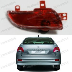 New Rear Bumper Fog Light Lamp Lh Driver Side For Peugeot 206 207