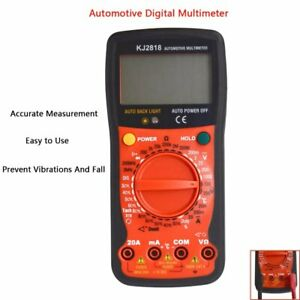 Digital Multimeter Voltmeter Ohm Meter Ac dc Resistance Frequency Dutycycle Test