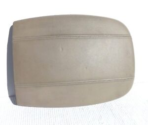 1997 2002 Ford Expedition Tan Leather Front 16x12 Wide Center Console Lid Cover
