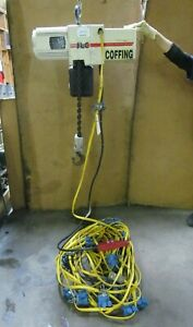 Coffing Jlc4008 3 10 2 T Ton 4000lbs Electric Chain Hoist 230 460v 3ph 120 Drop