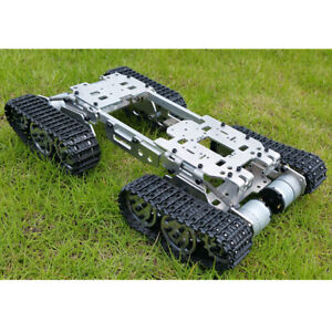 Robot Tank Car Chassis Kit Track Crawler With 4wd Motors For Arduino Diy