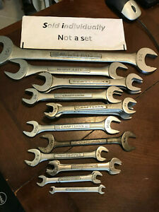 U Pick Craftsman Tools Usa Vintage Wrench Sae Open End V Vv Standard Spanner