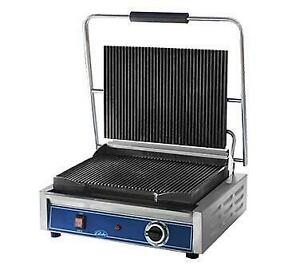 Globe Panini Sandwich Grill Stainless Steel Commercial Construction Gpgs1410