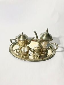 Vintage Towle Silversmiths 5 Piece Silverplate Coffee And Tea Set
