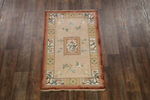 100 Silk Vintage Bird Design 3x5 Art Deco Peking Chinese Oriental Area Rug
