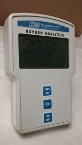 Hudson Rci Oxygen Analyzer Model 5801 Turns On Good Cosmetic Condition