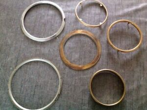 Antique Clock Brass Metal Bezels Frames Parts Collection From Clockmakers Spares