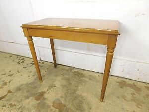Vintage 1960s Best Construction Solid Maple Piano Storage Lift Top Bench Stool