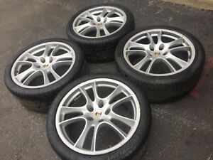 Original Oem Porsche Cayenne 21 Gts Turbo Wheels Tires Tpms Germany Italy