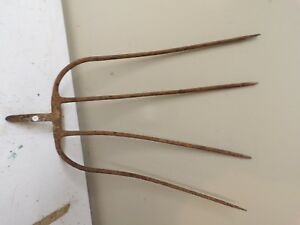 Old 4 Tine Hay Fork Pitchfork Head Only Lot O