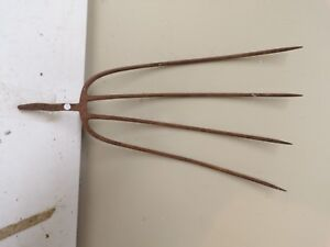 Old 4 Tine Hay Fork Pitchfork Head Only Lot G