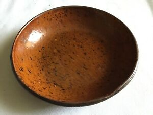 C Antique Pa Redware Pie Plate 7 Wide Great Glaze