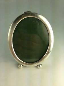 Antique England Sterling Silver Oval Picture Frame 150