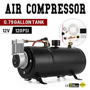 Air Compressor 120psi 12v Tank Pump For Air Horn Cover 40 Psi