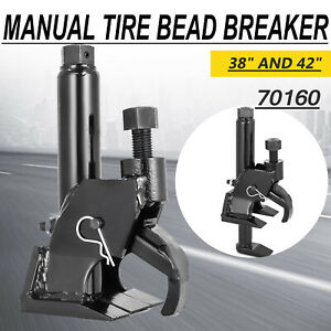 70160 Manual Tire Bead Breaker Loosens Rim Wrench Repair Tool