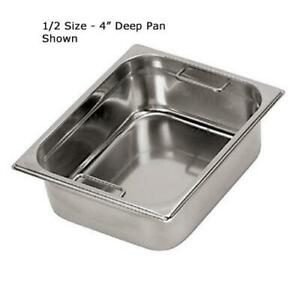 World Cuisine 14145 15 Half Size 6 In Deep Steam Table Pan