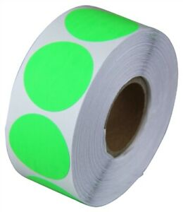 2 Adhesive Code Stickers Green Dot Inventory Coding Sale Labels 20 Rolls