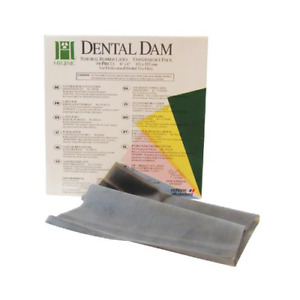 Coltene Whaledent H04245 Hygenic Rubber Dental Dam 6 X 6 Medium Dark 364 bx