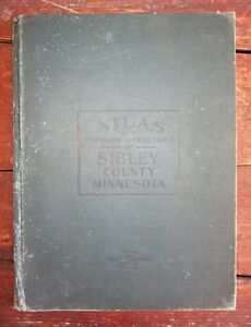 1914 Sibley County Minnesota Hardcover Atlas And Farmers Directory