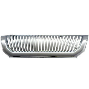 Fits 2000 04 Mitsubishi Montero Sport Chrome Front Upper Bumper Hood Grille Abs