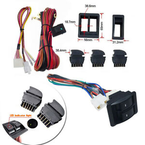 Car Electric Power Interior Window Switch 12v Wire Harness Universal Door Panels
