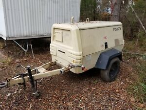 250cfm Ingersoll Rand Air Compressor Trailer Only 1500 Hours Larger Then185cfm