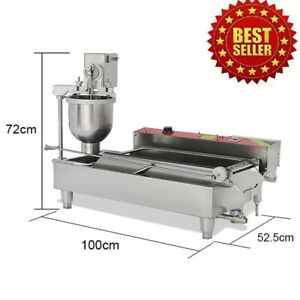 110v Commercial Electric Automatic Cake Donuts Maker Doughnuts Machine Fryer