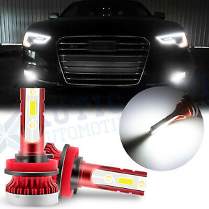 Xenon White Projector Led 12 Smd Fog Light Bulbs For Audi A3 A4 A5 A6 A8 Q3 Tt