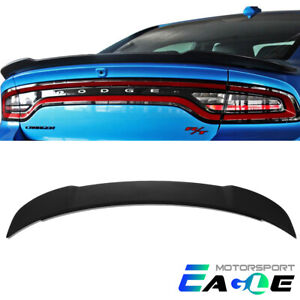 For 2011 2018 Dodge Charger Hellcat Style Abs Black Matte Trunk Spoiler
