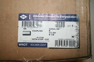 Elkhart Products Corp Wrot Copper Coupling With Stop C X C Connection Type 6