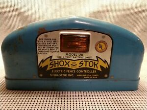 Vintage Shox stok Electric Fence Controller Industrial Farm Salvage Collectible