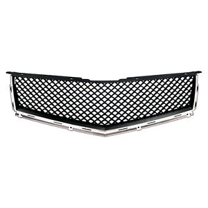 Fits 2010 12 Cadillac Srx Black Chrome Bentley Style Mesh Replacement Grille