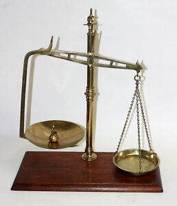 Antique Brass Medical Scales By Degrave Co Circa 1900