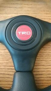 Rare Toyota Racing Development Steering Wheel Trd Supra Celica