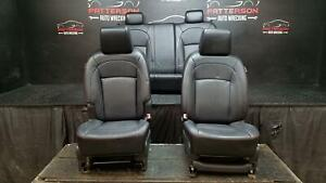 2008 Nissan Rogue Front Rear Power Leather Seats Black Interior Trim Code G