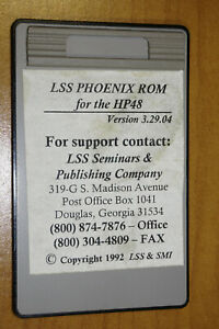 Lss Phoenix Rom For The Hp48 Version 3 29 04 Land Surveying Card For The Hp48gx
