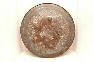Antique Mughal Or Indo Persian Islamic Vintage Dhal Iron Shield Weapon Armor 19