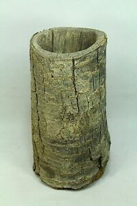 Antique Colonial America 1700 S Cherry Tree Trunk Mortar Very Early