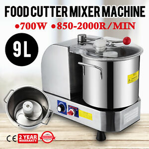 Stainless Steel Food Cutter Mixer Machine 9l Meat Blender Food Processor