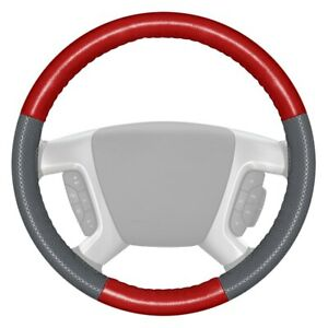Wheelskins Europerf Perforated Red Steering Wheel Cover W Gray Sides Color