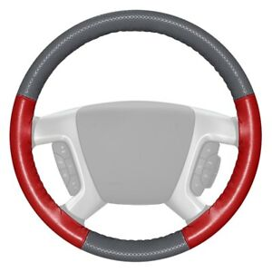 Wheelskins Europerf Perforated Gray Steering Wheel Cover W Red Sides Color