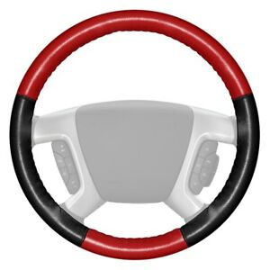 Wheelskins Eurotone Two color Red Steering Wheel Cover W Black Sides Color