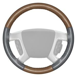 Wheelskins Eurotone Two color Oak Steering Wheel Cover W Gray Sides Color