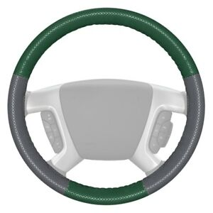 Wheelskins Europerf Perforated Green Steering Wheel Cover W Gray Sides Color